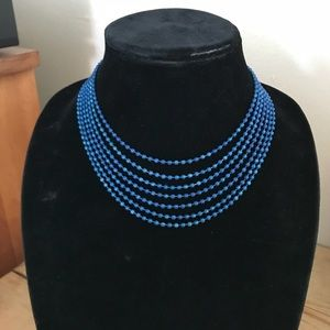 Jewelry - Royal blue multi strand necklace, museum shop